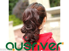 Fashion Sweet 30CM 3Colours Wavy Heat Resistant Women Lady Wig Ponytail