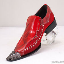 XL151 Clevis Fashion Shoe Loafer Red Steel Hardware Toe