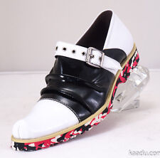 XL157 Clevis Fashion Shoe Loafer Black& White