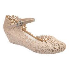 Wendy     Cream Wedges      Mary Jane Shoes - Jelly Shoes
