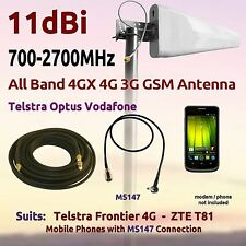 11dBi 4G 3G 700-2700MHz Antenna suits Telstra Frontier 4G ZTE T81 Coax FME MS147