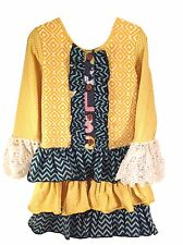 Mustard Pie Girls Tunic Dress Size 2T, 3T, 4, and 5 Fall High End Boutique Brand
