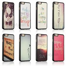 Funny Quirky Quote Case Back Skin Cover For Apple iphone4 4s 5 5c 5s SE + Film