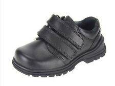 Start-rite Boys' SPIN Black Leather School Shoes Child UK NEW UK 10 - 2.5 E - H