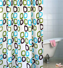 "78"" Fashion Waterproof Bathroom Bath Shower Curtain Round Circles Home Decor New"