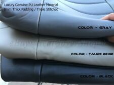 4pc Front 2 Low Back PU Leather Bucket Seat Covers - Top Grade Quality 6R
