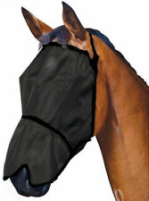 Horse Pony Fly+mask+Fly+Veil Showcraft Onyx with NOSE Flap UV+Insect protection