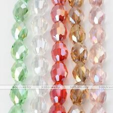 Strand Rice AB Crystal Glass Faceted Loose Bead Fit Charm Necklace Bracelet DIY