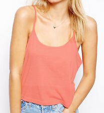 ASOS Cropped Cami Top with Scoop Neck - Salmon - Sizes 14, 16 and 18 in stock