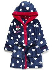 Girls Disney Minnie Mouse Hooded Fleece Dressing Gown Robe Age's 2-7 Years NEW