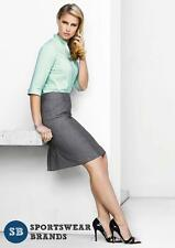 Rococo Ladies Feature Pleat Skirt Corporate Sizes 4-26 Grey Work Office 20316