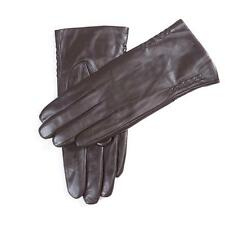 USA STOCK Women Winter Warm Lined with Long Fleece lined Lambskin Leather Gloves
