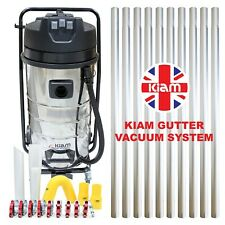 Kiam Gutter Cleaning System KV100 Industrial Wet & Dry Vacuum Cleaner & Pole Kit