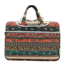 BOHO Red Canvas Notebook Bag Portable Laptop Sleeve Case Bag For MacBook Air/Pro