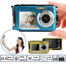 HD 1080P 24MP Waterproof Digital Video Camcorder DV Dive Camera 16x Digital Zoom