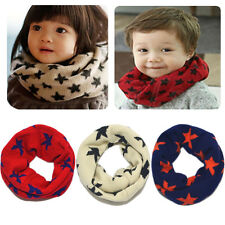 Soft Kids Childrens Woolen Scarf Boy Girl Star Scarf Shawl Winter Neckerchief