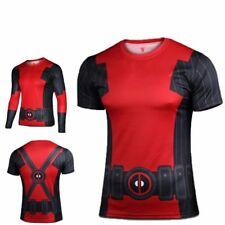 NEW Superhero Marvel Costume Cycling Tee T-Shirts Bicycle Sports Jersey Deadpool