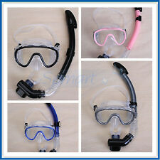 Set DIVING SNORKELING Swimming SWIM Scuba Anti-Fog Goggles Mask & Snorkel 4Color