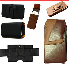 New Belt Clip Loop Holster Pouch Leather Case Cover Holder for Various Mobile