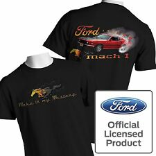 Mustang T Shirt Mach 1 Ford Muscle Car Pony Flames Burnout Small to 6XL Big Tall