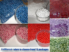 3d Styrofoam colored balls 1 liter pack great for crafting, biscuit, jewelry.etc
