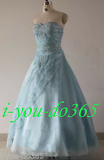 New Stock Light Blue Evening Wedding Bridesmaids Dress Size 6 8 10 12 14 16
