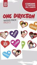 New One Direction 1D Love! 1D Temporary Tattoo Pack
