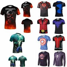 Superhero Marvel Costume Cycling T-Shirts  Short Long Sleeve Bicycle Jersey HOT