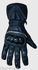 MOTORCYCLE LIGHTWEIGHT LEATHER ROAD AND RACE GLOVES