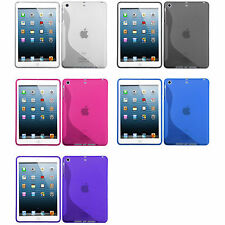 Clear S-Shape TPU Candy Cover Carrying Case For APPLE iPad mini 1 2 3 WiFi 3G 4G