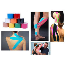 Useful 5m x 5cm Kinesiology Sports Muscles Care Elastic Physio Therapeutic Tape