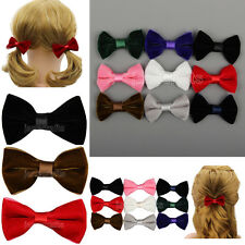12pcs Hair Bows Girls Baby Velvet Ribbon Alligator Clips Hairpins Accessory Lot