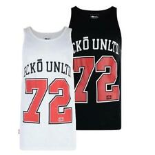 "NEW Ecko Unltd ""Citan"" Mens Vest Tank top Sz S M L White Black singlet t shirt"