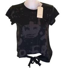 Bnwt Authentic Womens Christian Audigier Branded T Shirt Black New Small Medium