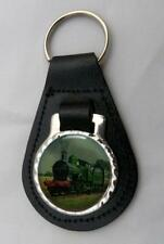 STEAM TRAIN LEATHER KEY FOB Keyring Gift Choice of Colours NEW