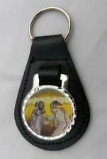 FENCING LEATHER KEY FOB Keyring Gift Choice of Colours NEW