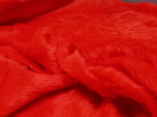 Plain Fun Faux Fur Fabric Material BRIGHT RED
