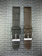 20mm Grain Leather Strap Black Watch Band Thin Light Padding Brown LONGINES II