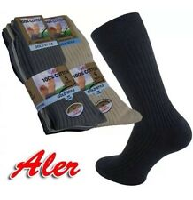 6 Pair Mens 100% Cotton Ribbed Socks Colour Black and Assorted Colours Size 6-11