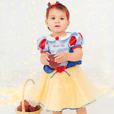 BABY TODDLER GIRLS DELUXE DISNEY SNOW WHITE PRINCESS COSTUME PARTY DRESS OUTFIT