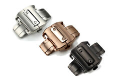 18 21mm Steel Deployment Buckle Metal Clasp Watch Band Strap For Cartier Santos
