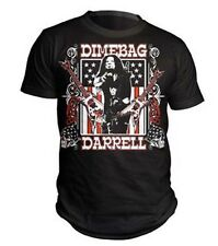 DIMEBAG DARRELL GUITARS FLAG T-SHIRT OFFICIALLY ADULT BLACK MEN SIZE S M L XL