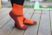 hand knitted socks eco 100% wool womens knit socks, mary jane wool slippers