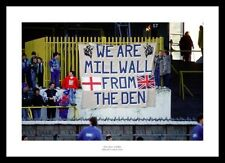 Millwall Fans 'We are Millwall from the Den' 1989 Old Den Stadium Photo