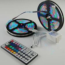 Set 10M 3528 SMD 600LEDs RGB LED Light Strip+24/44 Key IR Remote Controller IP65