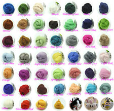 50g Top Roving Needlefelting Wool Corriedale Dyed Spinning Wet Felting Fiber