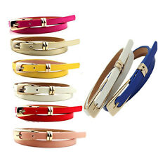HOT SALE Fashions Simple  Women Lady Girl Cortical Candy Color Waist Skinny Belt