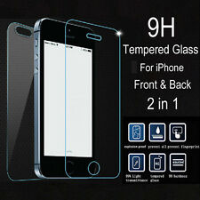 Genuine Screen Protector Tempered Glass Film For Apple Iphone Front Back Cover