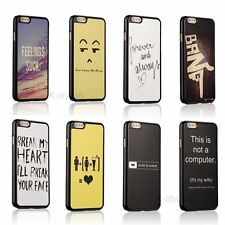 Funny Cute Quotes Back Hard Cover Skin Case For Apple iPhone 6s / 6s Plus + Film