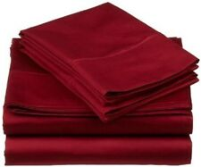 SOLID BURGUNDY 1000TC COMPLETE BEDDING SET 100% EGYPTIAN COTTON CHOOSE ITEMS